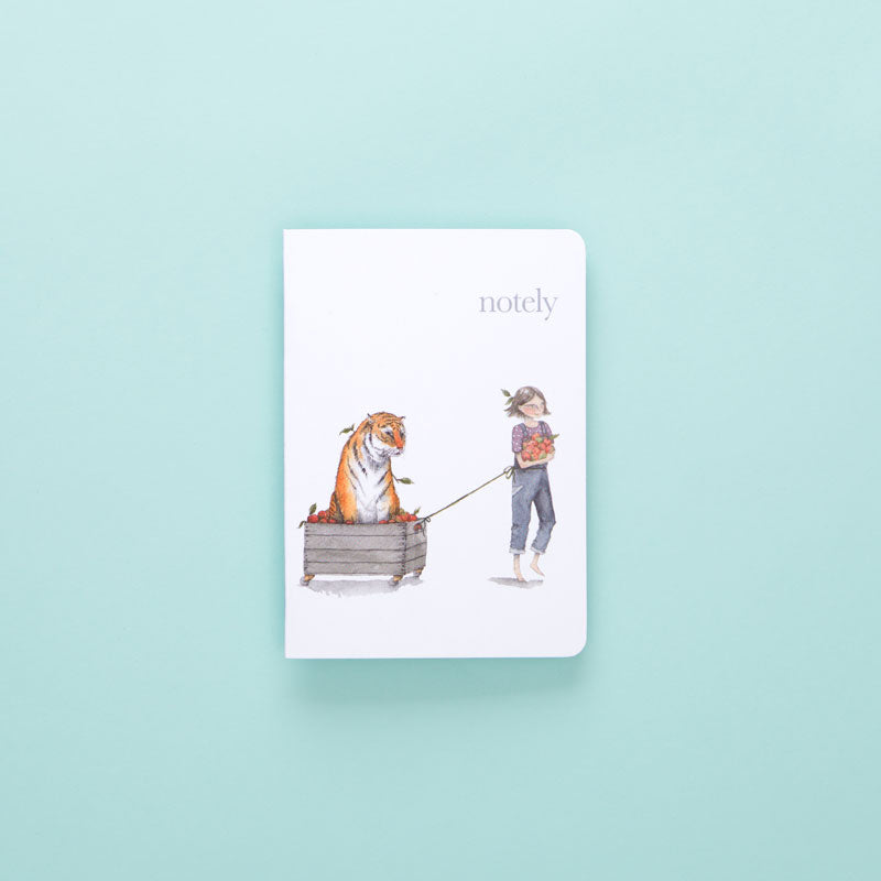 Notely Girl with a Tiger A6 Notebook