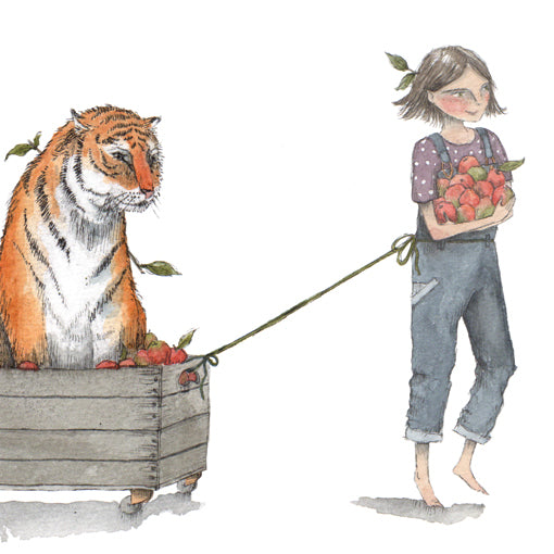 Girl with tiger Illustration by Sophie Jamieson
