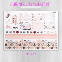 Load image into Gallery viewer, Planner Girl Peach & Pink Weekly Planner Sticker Kit