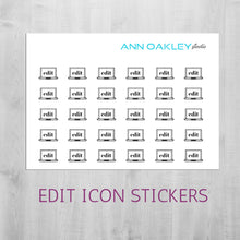 Load image into Gallery viewer, Foiled Edit Icon Planner Stickers