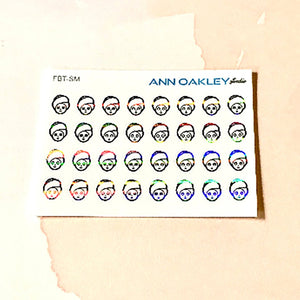 Foiled Beauty Icon Planner Stickers