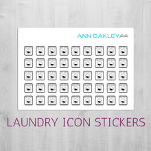 Load image into Gallery viewer, Foiled Laundry Icon Planner Stickers