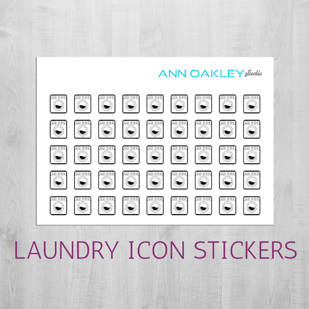 Foiled Laundry Icon Planner Stickers