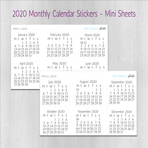 Monthly Planner Stickers - Mini