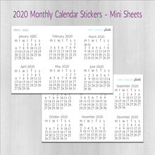 Load image into Gallery viewer, Monthly Planner Stickers - Mini