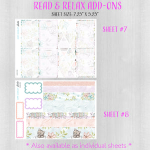 Read and Relax Weekly Planner Sticker Kit