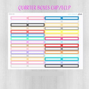 Quarter Box Planner Stickers for vertical Classic Happy Planner or Erin Condren LP - great for color coding or functional planning