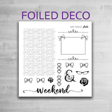 Load image into Gallery viewer, Foiled Deco Planner Stickers