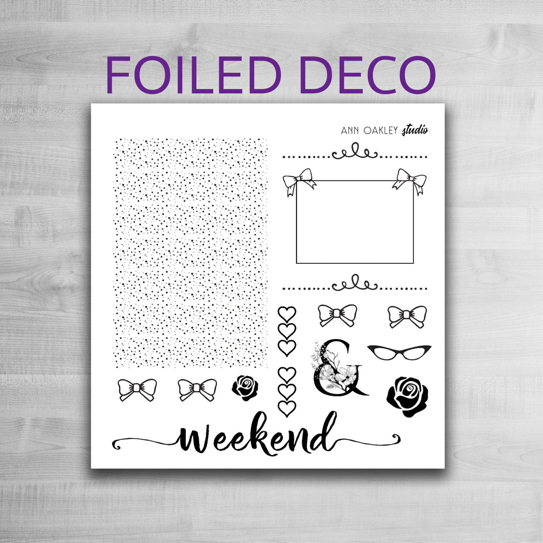 Foiled Deco Planner Stickers