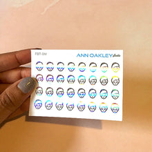 Load image into Gallery viewer, Foiled Beauty Icon Planner Stickers