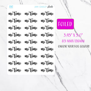 Foiled Me Time Planner Stickers