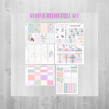 Load image into Gallery viewer, Read and Relax Weekly Planner Sticker Kit