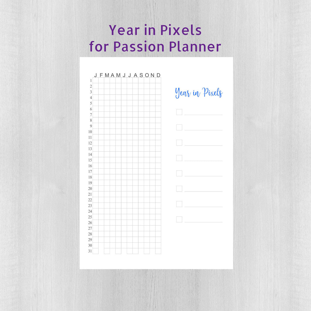 Year in Pixels Sticker - Passion Planner