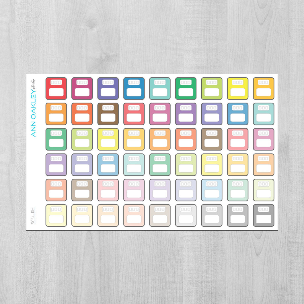 Weight Loss Scale Icon Planner Stickers