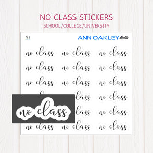 No Class Planner Stickers