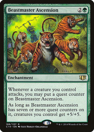 Beastmaster Ascension [Commander 2014] | The Mighty Meeple