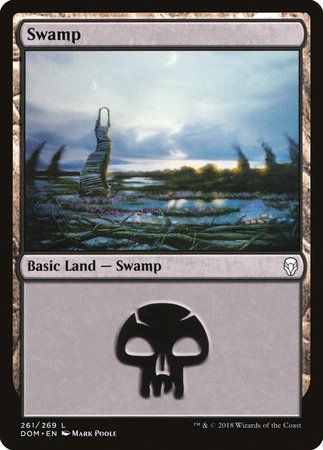 Swamp (261) [Dominaria] | The Mighty Meeple