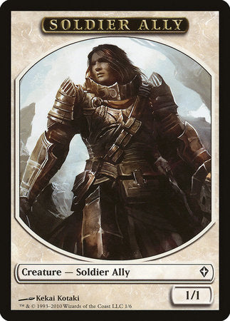 Soldier Ally Token [Worldwake Tokens] | The Mighty Meeple