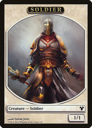 Soldier // Spirit Double Sided Token [Modern Event Deck 2014 Tokens] | The Mighty Meeple