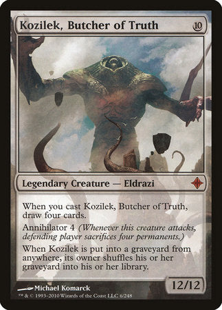 Kozilek, Butcher of Truth [Rise of the Eldrazi] | The Mighty Meeple
