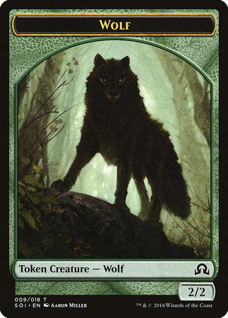 Wolf Token [Shadows over Innistrad Tokens] | The Mighty Meeple