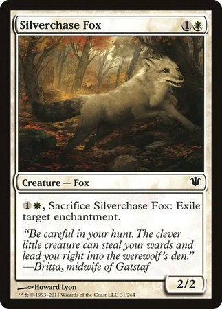 Silverchase Fox [Innistrad] | The Mighty Meeple