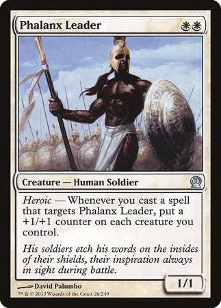 Phalanx Leader [Theros] | The Mighty Meeple