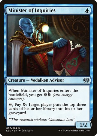 Minister of Inquiries [Kaladesh] | The Mighty Meeple