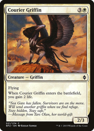 Courier Griffin [Battle for Zendikar] | The Mighty Meeple