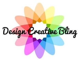 rainbow flower with design creative bling text