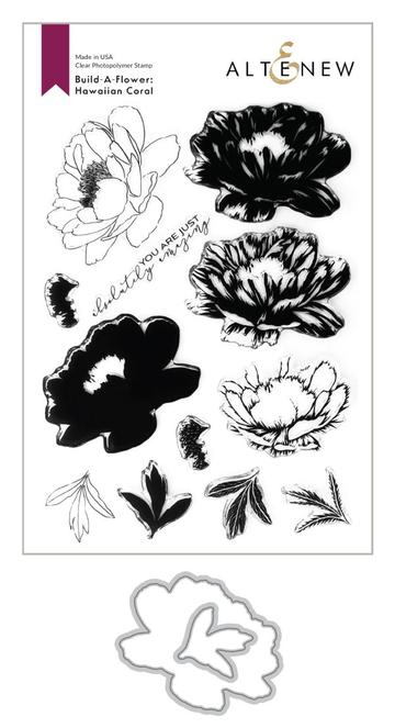 Copy of Altenew - Clear Stamp Set - Build A Flower-Hawaiian Coral Layering Stamp and Die