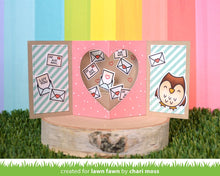 Load image into Gallery viewer, Lawn Fawn - Valentines - Lawn Cuts - Dies - Center Picture Window Card Heart Add-on