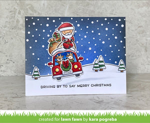Lawn Fawn-Clear Stamps-Car Critters Christmas Add-on