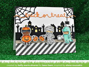 Lawn Fawn - Halloween - Costume Party - clear stamp set