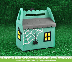Lawn Fawn - Halloween - Lawn Cuts - Dies - Scalloped Treat Box Haunted House Add-On