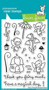 Lawn Fawn -   Fairy Friends- clear stamp set