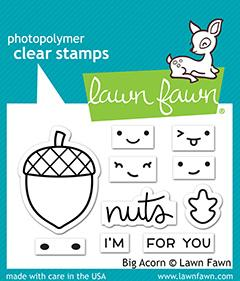 Lawn Fawn-Clear Stamps-Big Acorn