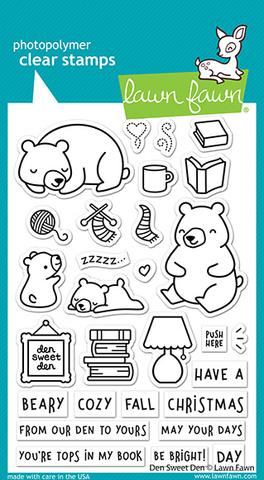 Lawn Fawn-Clear Stamps-Den Sweet Den