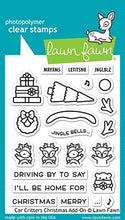 Load image into Gallery viewer, Lawn Fawn-Clear Stamps-Car Critters Christmas Add-on