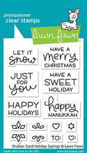 Load image into Gallery viewer, Lawn Fawn-Clear Stamps-Shutter Card Sayings