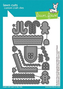 Lawn Fawn-Lawn Cuts-Dies-Build-A-House  Gingerbread Add-on