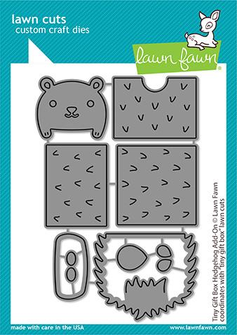 Lawn Fawn-Lawn Cuts-Dies-Tiny Gift Box Hedgehog Add-on