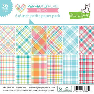 Lawn Fawn - Perfectly Plaid Remix Collection - 6 x 6 Petite Paper Pack