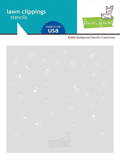 Lawn Fawn-Bubbles Background Stencil
