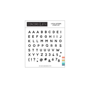 Concord & 9th - Clear stamp set - Little Letters