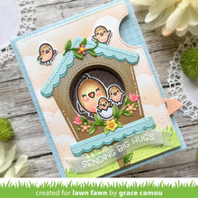 Load image into Gallery viewer, Lawn Fawn - Valentines - Lawn Cuts - Dies - Magic Iris Birdhouse Add-on