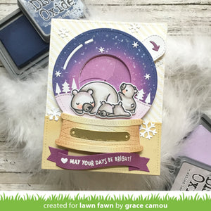 Lawn Fawn-Lawn Cuts-Dies-Magic Iris Snow Globe Add-on