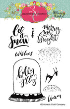 Load image into Gallery viewer, Colorado Craft Company - Whimsy World Collection - Clear Photopolymer Stamps - Let It Snow