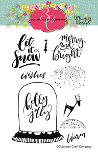 Colorado Craft Company - Whimsy World Collection - Clear Photopolymer Stamps - Let It Snow