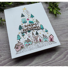 Load image into Gallery viewer, Colorado Craft Company - Whimsy World Collection - Clear Photopolymer Stamps - Christmas Town Tree